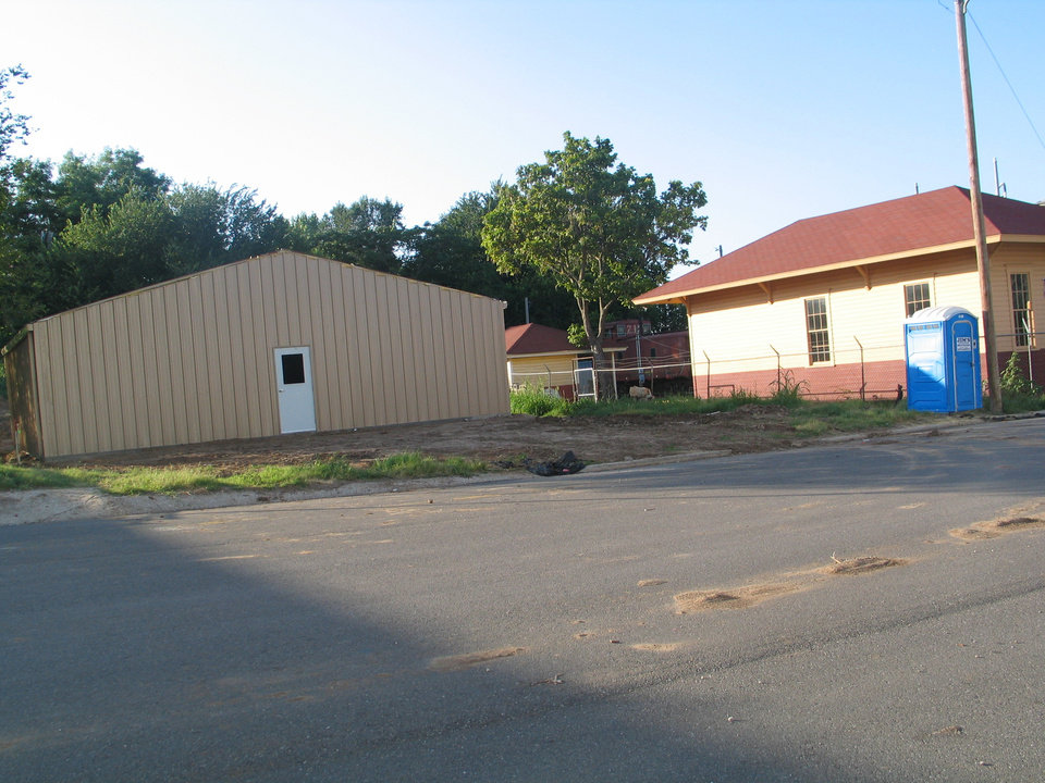 Pictured is Phase One of Harrah Historical Society's museum construction.  Be looking for Phase Two<br/><b>Community Photo By:</b> Karen Erbin, Editor for Harrah Historica<br/><b>Submitted By:</b> Karen, Harrah