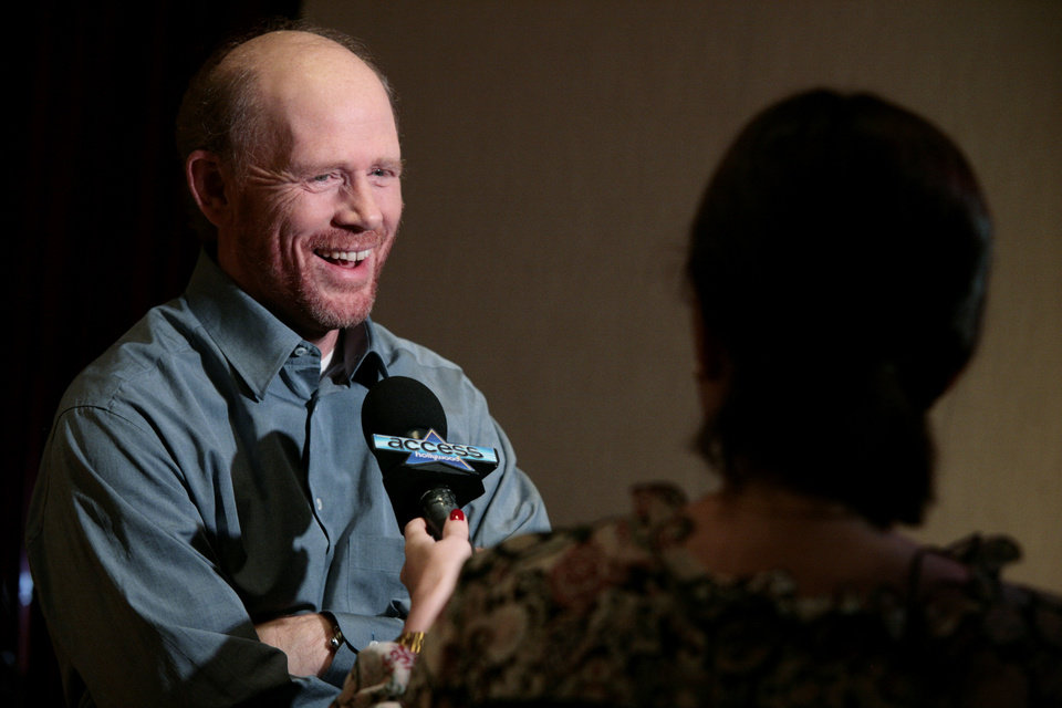 Photo - Director Ron Howard is shown during an interview with the television program