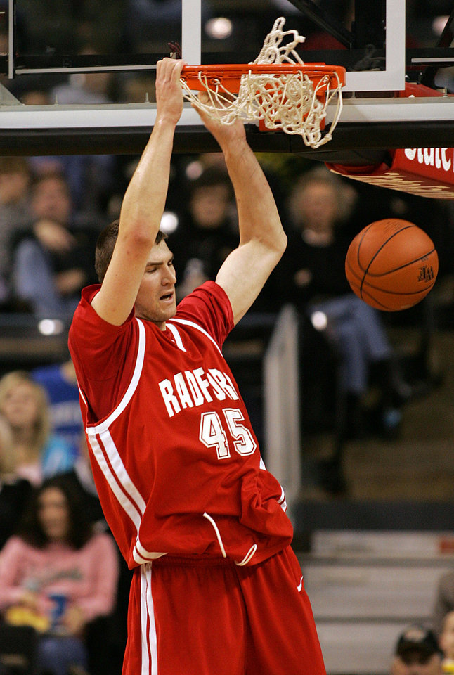 Photo - Radford center Artsiom Parakhouski could be a sleeper in Thursday's NBA Draft. AP PHOTO