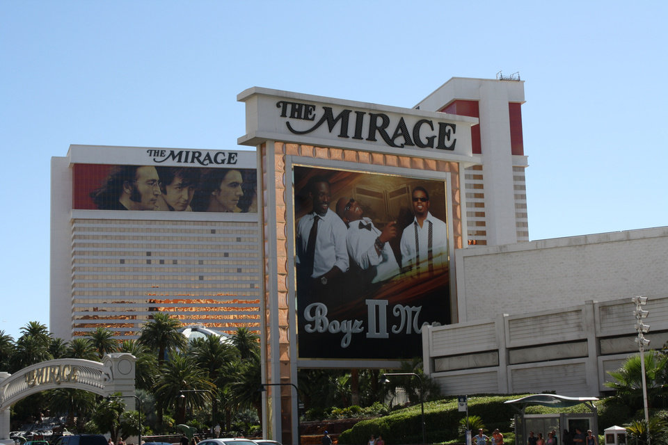 Photo - The Mirage Hotel and Casino is seen on the Las Vegas Strip. PHOTO PROVIDED