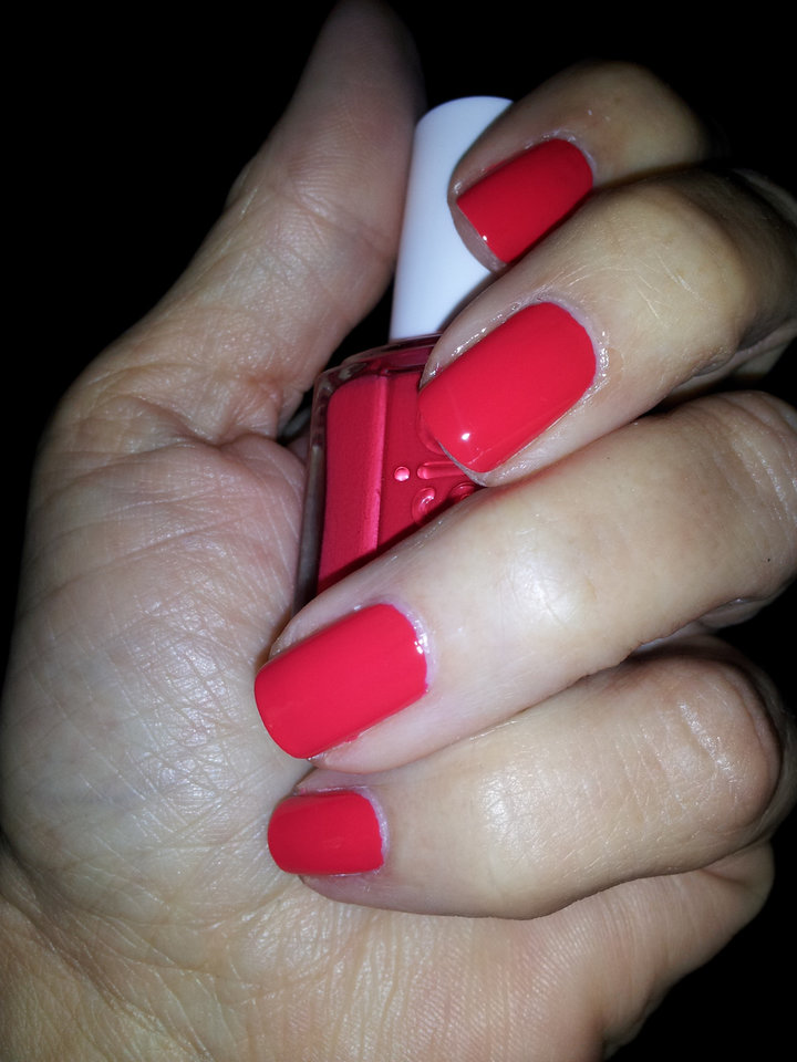 Essie's Ole Caliente, a hot rose-coral hue.