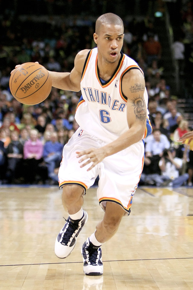 Thunder guard Eric Maynor has averaged 5.5 points and one steal in 14.8 minutes. PHOTO BY HUGH SCOTT, THE OKLAHOMAN