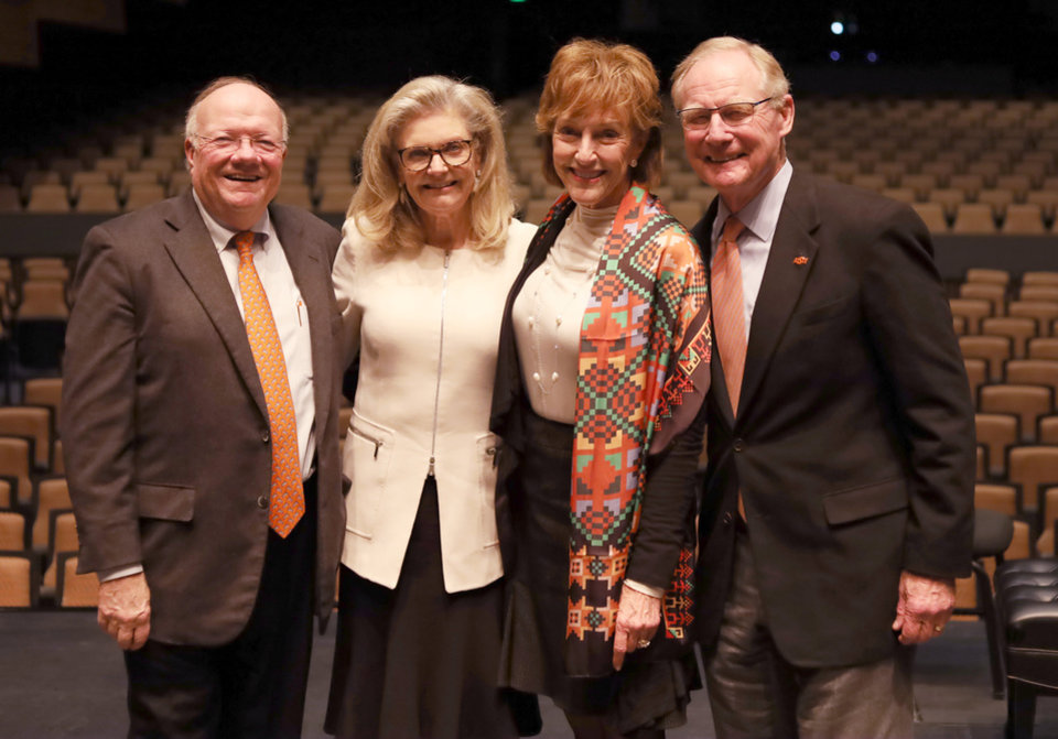 Photo - Ross and Billie McKnight, Ann and OSU President Burns Hargis. PROVIDED PHOTO