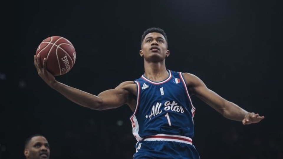 Photo -  The Thunder selected French guard Theo Maledon with the 34th pick in the NBA Draft. Former Spurs great Tony Parker has mentored Maledon. [AFP VIA GETTY IMAGES]