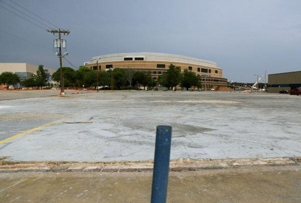 The recommended site for the proposed convention center west of the Oklahoma City Arena on Reno in Oklahoma City on Tuesday, May 10, 2011. Photo by John Clanton, The Oklahoman ORG XMIT: KOD