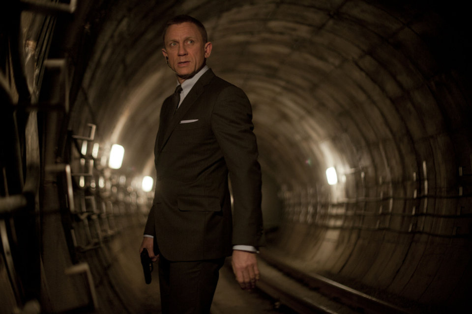 "From the tunnels to the rooftops of London and in other places around the world, Daniel Craig stars as James Bond in ""Skyfall."" PHOTO PROVIDED BY MGM/COLUMBIA PICTURES. <strong>Francois Duhamel</strong>"