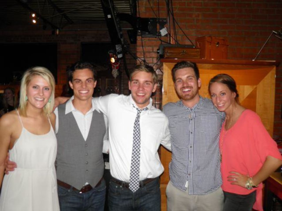 Brooke Baumert, John Fraser, Wilson Kerr, Ben Campbell, Kristen Markey were at the party. (Photo provided).