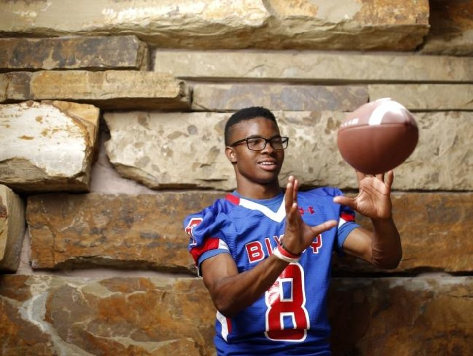 Photo -  Bixby receiver Brennan Presley will sign with Oklahoma State on Wednesday. [Bryan Terry/The Oklahoman]