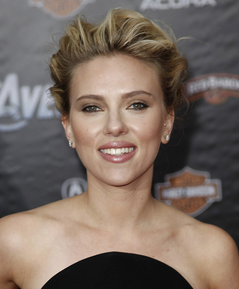 "Scarlett Johansson arrives at the premiere of ""The Avengers"" in Los Angeles, Wednesday, April 11, 2012. (AP Photo/Matt Sayles, file) <strong>Matt Sayles</strong>"