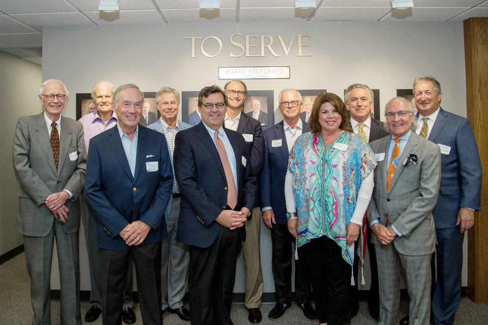 Photo - Allen Evans, Jim Mueller, Bob Reece, Mike Collison, Ted Strickland, John Kennedy, David Donchin, back; Doug Frans, Joe Lewallen, Janet McLain, Steve Brown. PROVIDED PHOTO