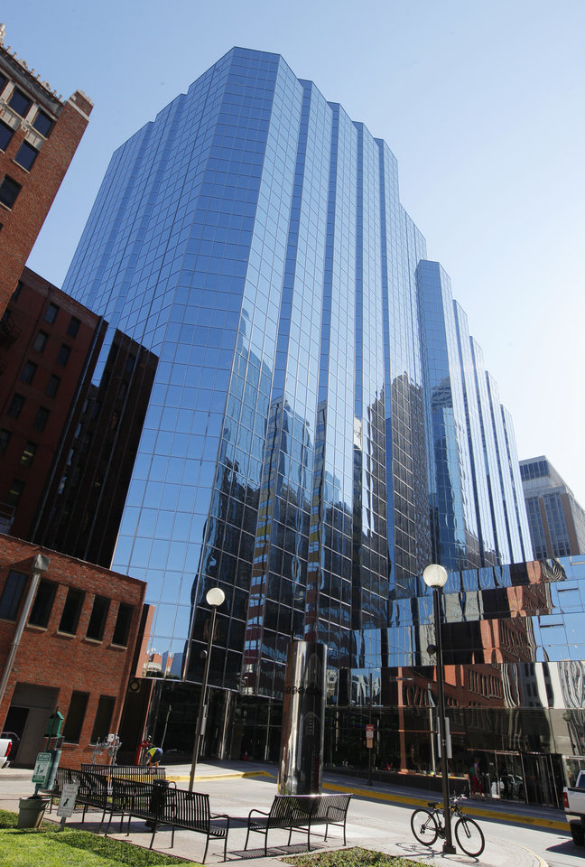 Photo -  North Tower of Leadership Square, 211 N Robinson. PHOTO BY PAUL B. SOUTHERLAND, THE OKLAHOMAN   PAUL B. SOUTHERLAND -  PAUL B. SOUTHERLAND