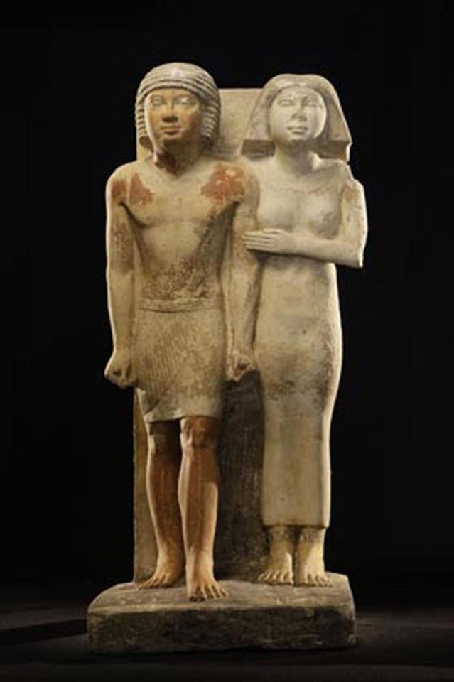 "This Oct. 11, 2012 photo released Friday, Nov. 2, 2012 by Egypt's Supreme Council of Antiquities, shows recently discovered statues found in a complex of tombs, including one of a pharaonic princess, in the Abusir region, south of Cairo, Egypt. Egyptian Minister of Antiquities, Mohammed Ibrahim said Czech archaeologists have unearthed the tomb of Shert Nebti�s, a pharaonic princess, daughter of King Men Salbo, dating from the fifth dynasty (around 2500 BC) along with four other tombs of ""high ranking officials."" (AP Photo/Egypt's Supreme Council Of Antiquities)"