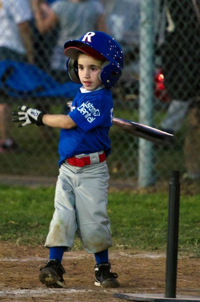 Jhett Skaggs plays T-ball. Photo provided