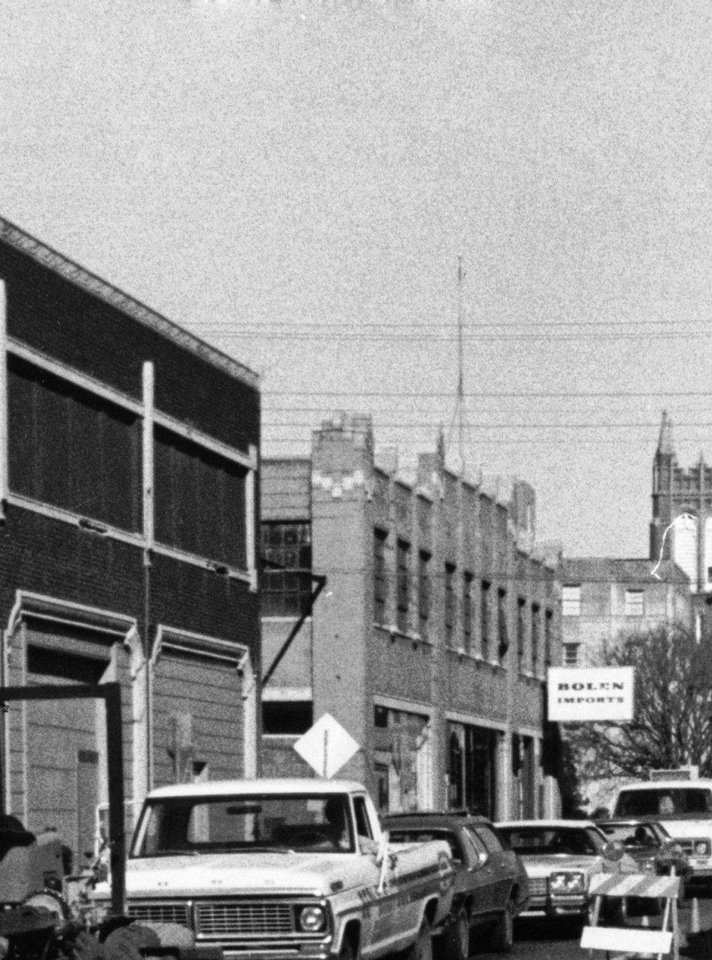 Photo - The former Guardian Garage and neighboring Packard Building can be seen in this 1970s-era photo OKLAHOMAN ARCHIVES PHOTO     ORG XMIT: 1209182225312969