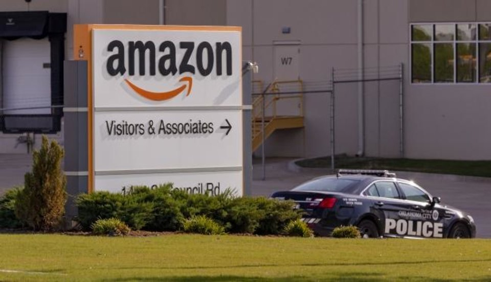 Photo -  The Amazon warehouse located at 1414 S Council Road is shown in this recent photo. [Chris Landsberger/The Oklahoman]