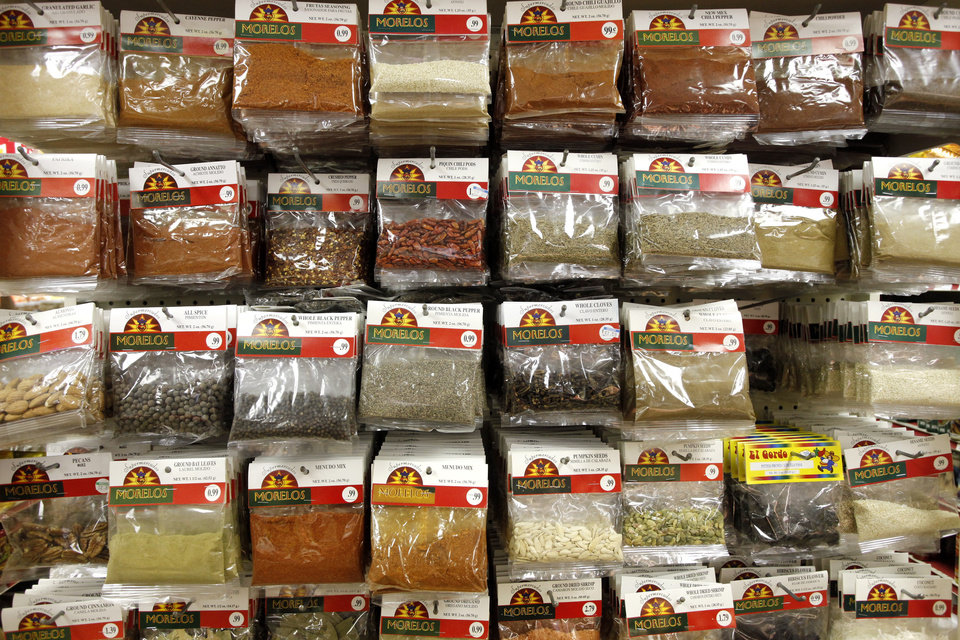 Spice selection at Supermercados Morelos in Oklahoma City, November 30, 2011. Photo by Doug Hoke, The Oklahoman