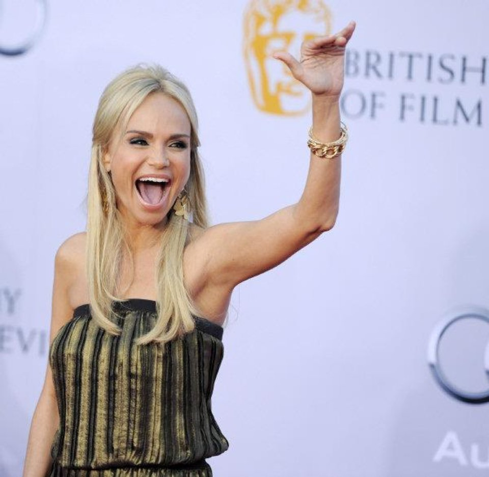 Actress Kristin Chenoweth waves at the inaugural BAFTA Brits to Watch 2011 event at the Belasco Theater in Los Angeles, Saturday, July 9, 2011. AP <strong></strong>