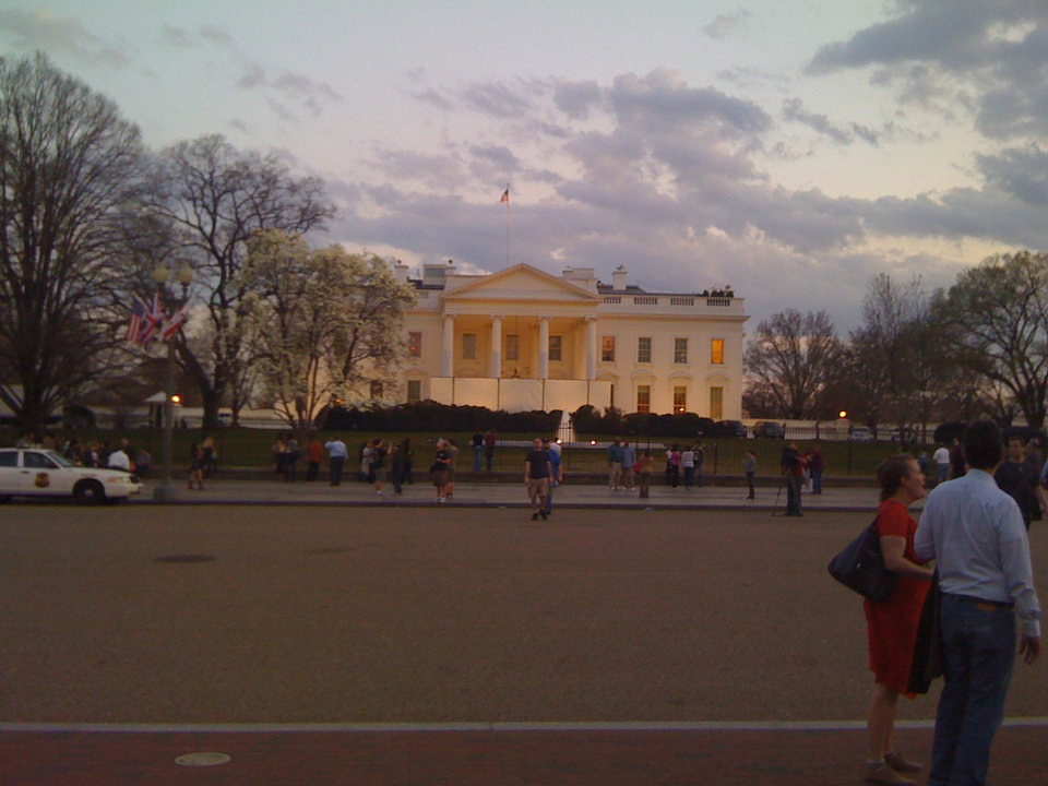 Whitehouse on a beautiful March evening.