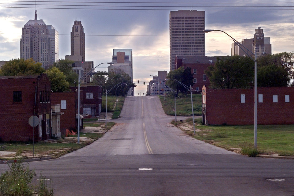 Deep Deuce, looking west from NE 2 and Russell Perry Avenue, as shown in 1998. <strong>DOUG HOKE</strong>