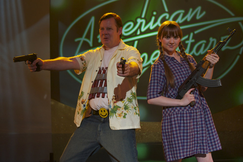 Photo -   In this film image released by Magnolia Pictures, Joel Murray, left, and Tara Lynne Barr are shown in a scene from