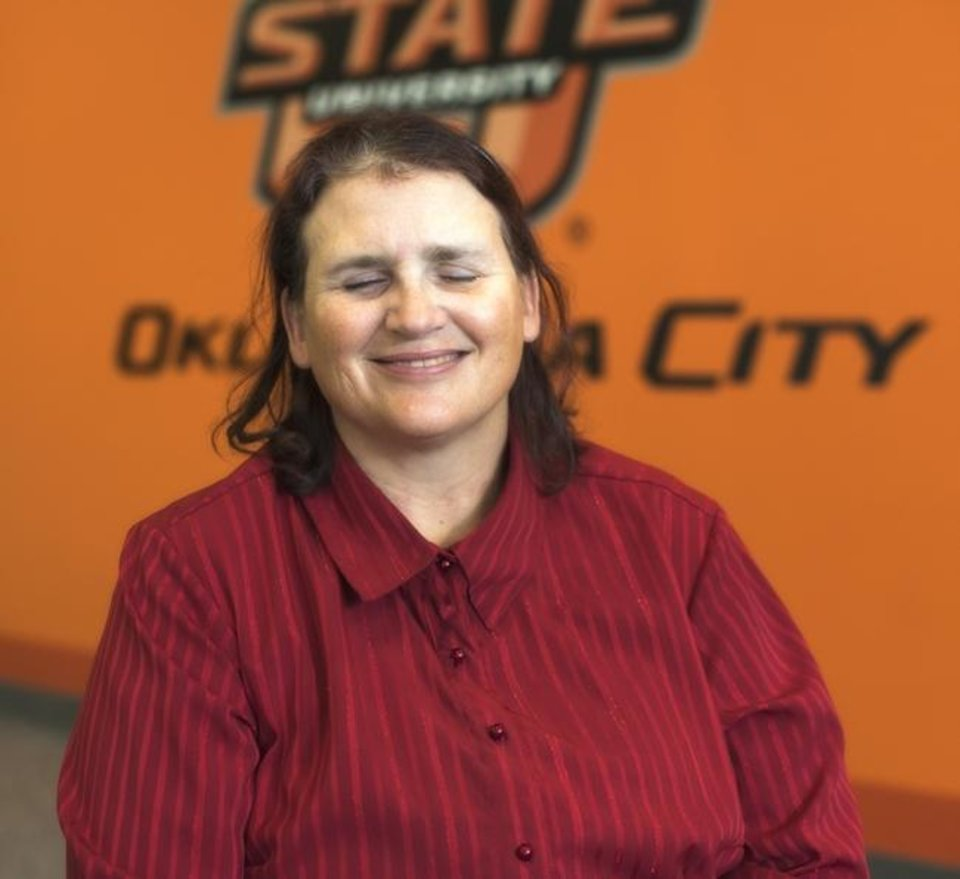 Photo -  Cathy Tuton is a blind student pursuing a degree at OSU-OKC. [Photo provided]