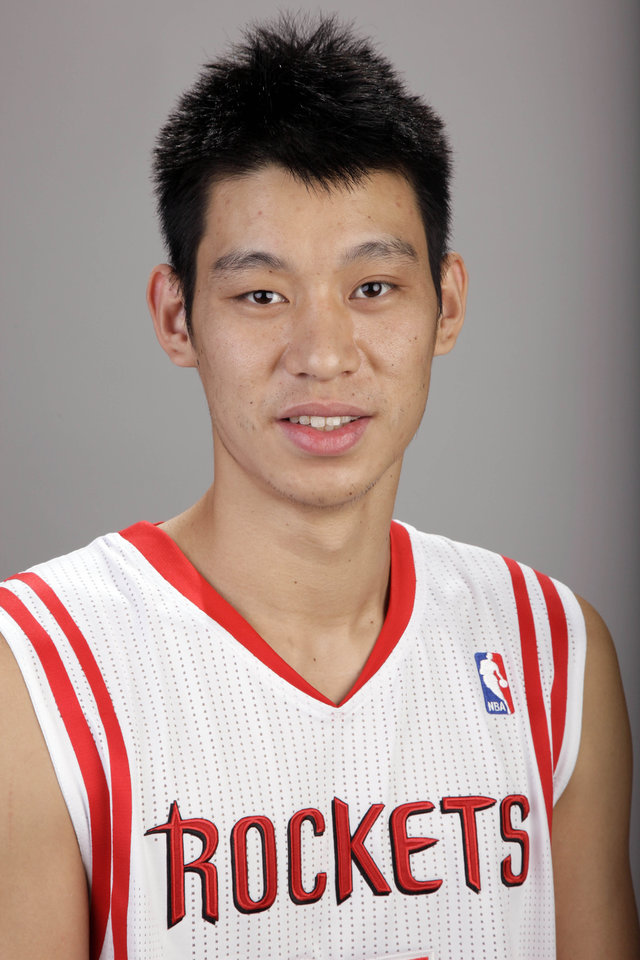 Photo -   FILE - In this Dec. 15, 2011 file photo, Houston Rockets' Jeremy Lin is shown during the team's NBA basketball media day in Houston. Linsanity could be put to rest in New York when the clock strikes midnight. That's the deadline the New York Knicks face to match the daunting offer the Rockets have made to Lin, the Harvard point guard who dazzled all of basketball for a brief stretch last season. (AP Photo/David J. Phillip, File)