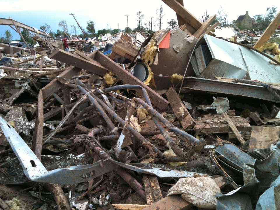 Photo - Rubble from A Step Above Day Care Center in south Oklahoma City.  PROVIDED - PROVIDED