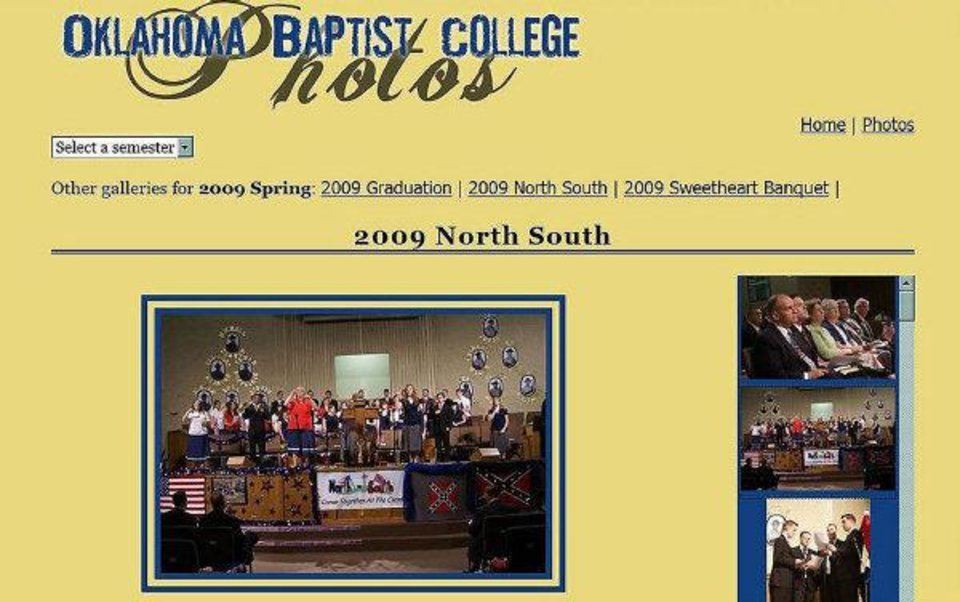 Screen capture of photos on the Oklahoma Baptist College website. The pictures were taken during the North-South School of the Prophets event in 2009. The college is run by Windsor Hills Baptist Church. <strong>Provided</strong>