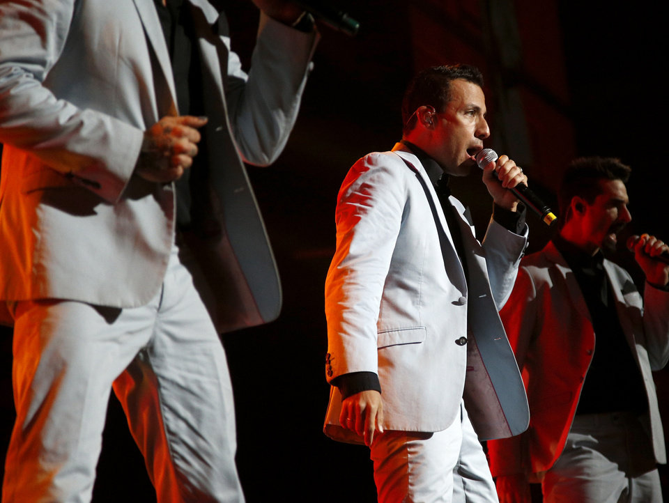 Photo - Howie Dorough with the Backstreet Boys performs at Chesapeake Energy Arena, Friday, June 6, 2014. Photo by Bryan Terry, The Oklahoman