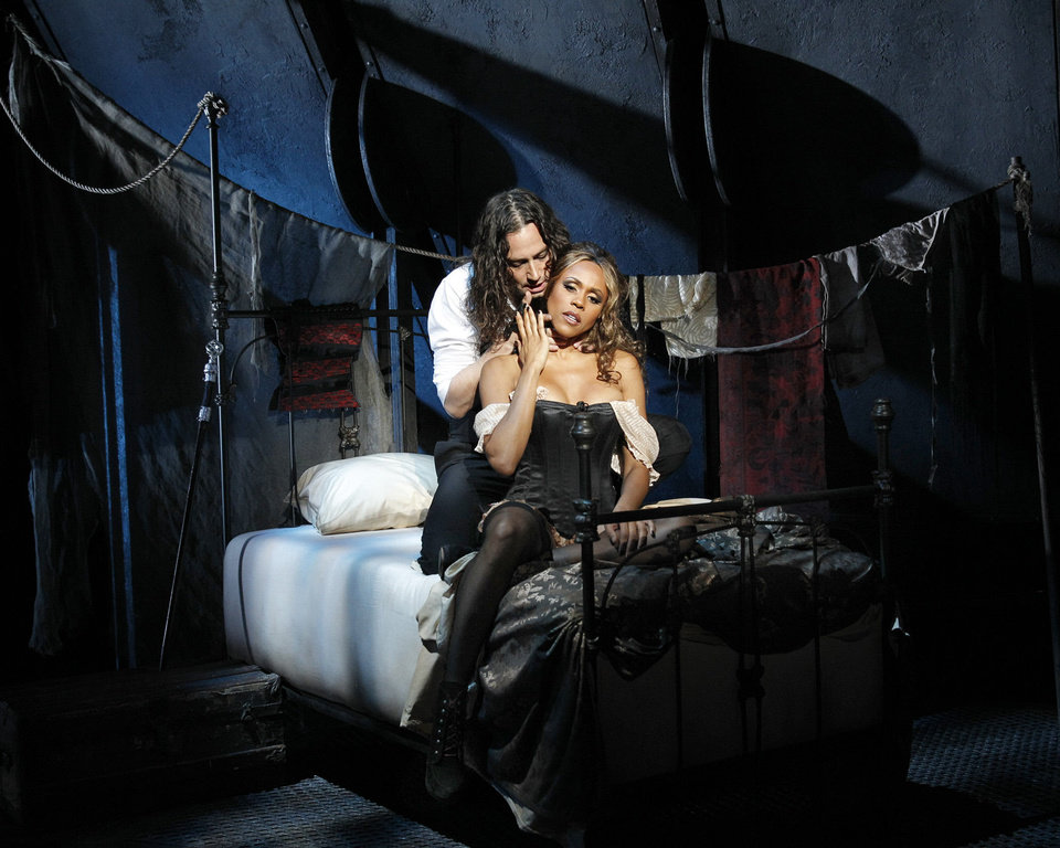 "Constantine Maroulis and Deborah Cox star as Edward Hyde and Lucy in ""Jekyll & Hyde""   Photo by Chris Bennion <strong>Chris Bennion</strong>"