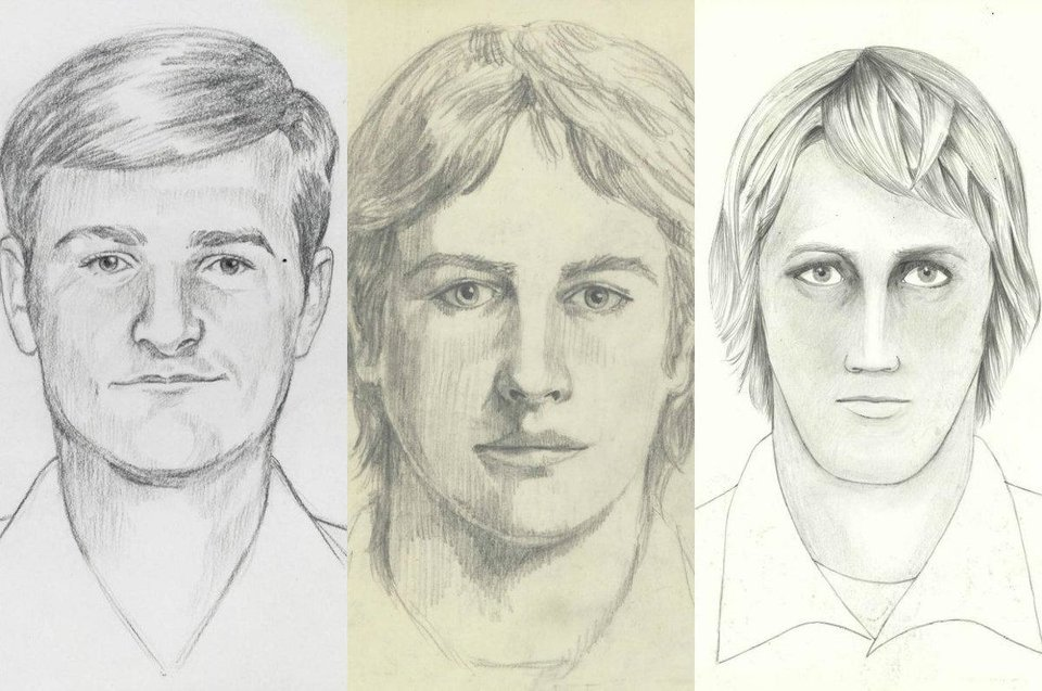Photo -  Artists' conceptions of the Golden State Killer from early in his criminal career. [Images provided]