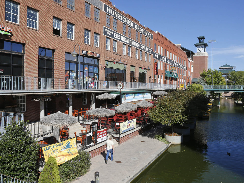 The Bricktown Canal has continued to develop in recent years, but will the momentum stop after a second slaying took place early Saturday at the Miller-Jackson Building? AP Photo Sue Ogrocki - AP