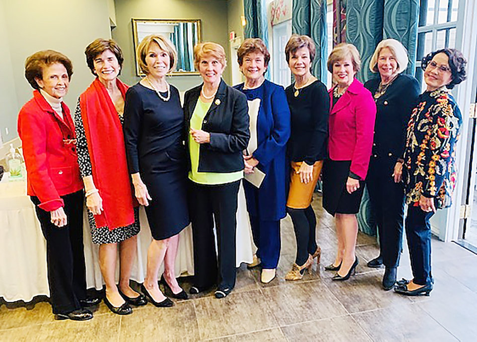 Photo - Linda Steinhorn, Polly Nichols, Joan Frates, Cecilia Abrams, Karen Browne, Janie Axton, Carol Troy, Kathy Walker and Terri Cooper. PHOTO PROVIDED