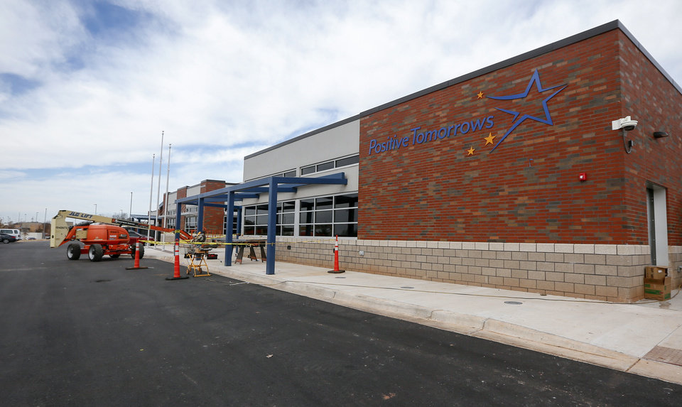Photo - The exterior of the new facility for Positive Tomorrows, a school for homeless children, at 901 N Villa in Oklahoma City, Tuesday, Nov. 26, 2019. [Nate Billings/The Oklahoman]