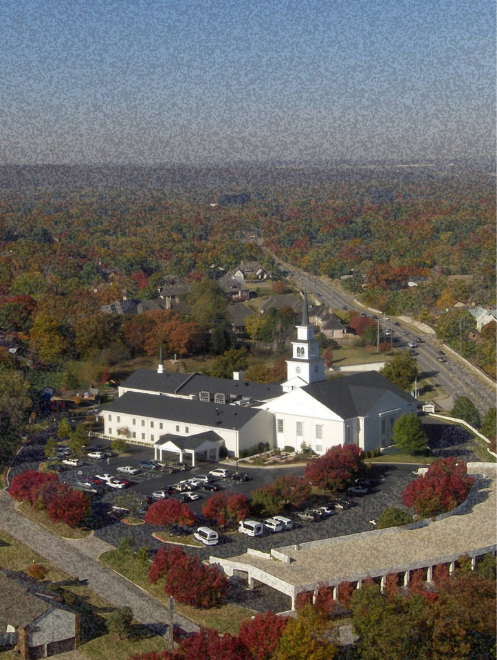 Photo - The congregation of Kirk of the Hills Presbyterian is trying to raise $1.75 million to buy church property shown here in south central Tulsa. PHOTO PROVIDED   ORG XMIT: 0810241206186875