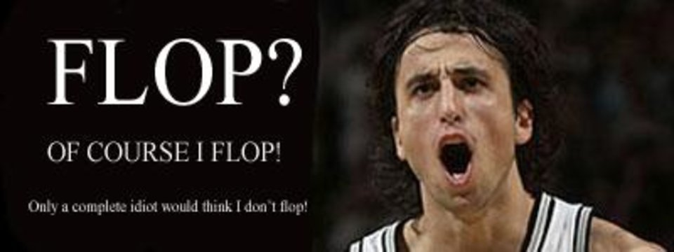 NBA flop leader Manu Ginobili of the San Antonio Spurs.