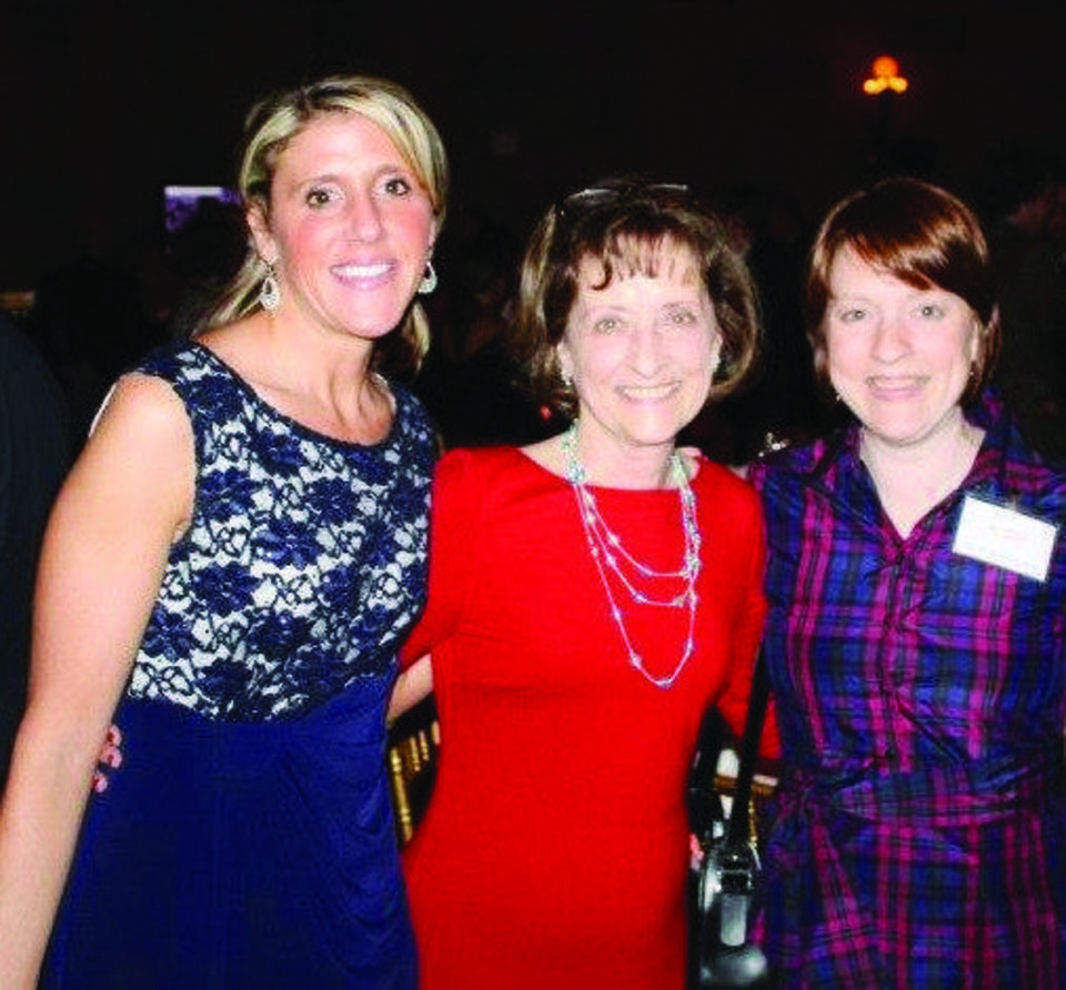 From left: Emily Holland, Secretary and Treasurer of Nicole Jarvis MD Parkinson's Research Foundation; Reda Jarvis, mother of Nicole Jarvis and Vice President of the Foundation and Nicole Jarvis pose at the Foundation's December, 2012 fundraiser. Photo provided. <strong></strong>
