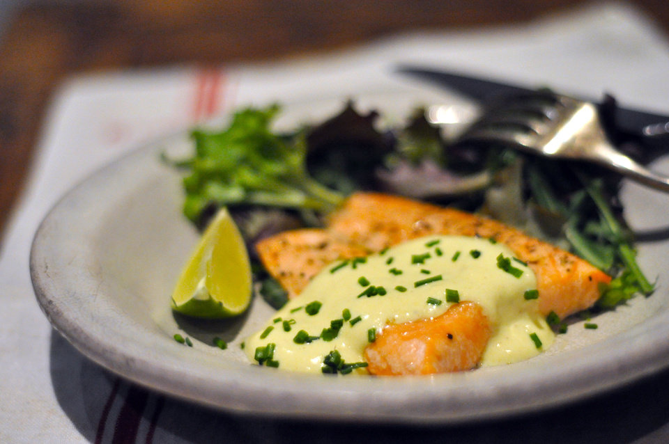 Photo - Salmon with creamy mustard sauce makes for a quick dinner with a French-inspired sauce -- what's not to love? (Ellise Pierce/Fort Worth Star-Telegram/MCT)
