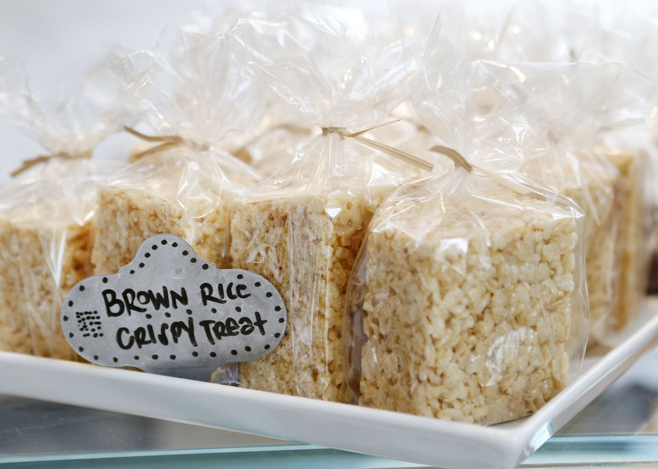 Brown rice crispy treats at Kitchen 324. <strong>Steve Gooch - The Oklahoman</strong>