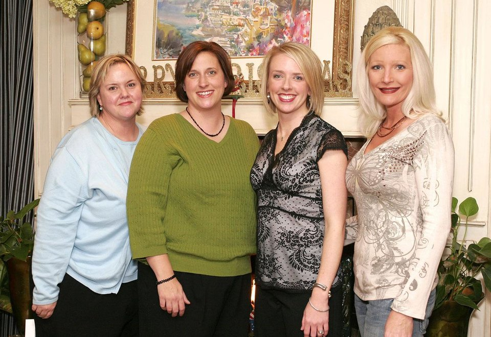 Ann Trudgeon, Bonnie Schwarz, Katie Moore, Whitney Tero. - Photo By David Faytinger,  For The Oklahoman