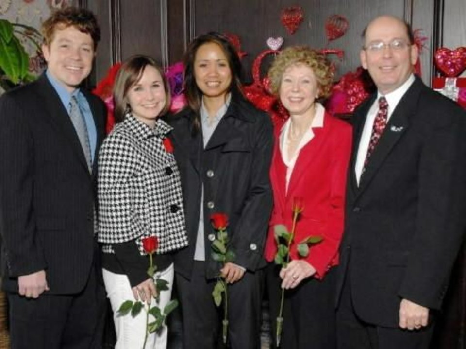Left: Derick Deweber, Sunny Cearley, Ha Bui, Susan and Trey Bize.