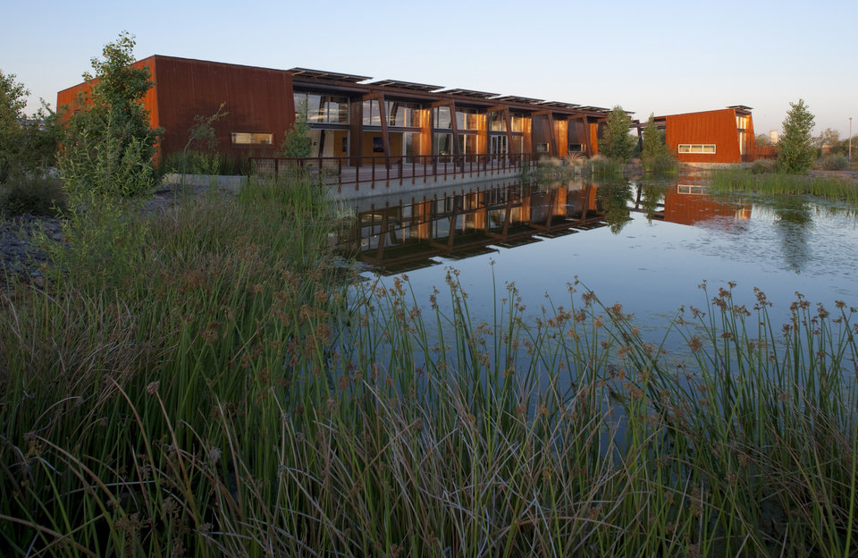 This undated image provided by Audubon Arizona shows the exterior of the Nina Mason Pulliam Rio Salado Audubon Center, located a few miles south of downtown Phoenix, Ariz. The center is located in a 600-acre preserve along the Salt River and is home to at least 200 different species of birds and wildlife. It's one of a number of free things to see and do in the Phoenix area. (AP Photo/Audubon Arizona, Bill Timmerman)