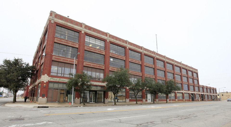 Photo - The former Fred Jones assembly plant in the 900 block of W Main Street was originally built as a Ford Model T assembly plant. Photo by Paul B. Southerland, the Oklahoman  PAUL B. SOUTHERLAND