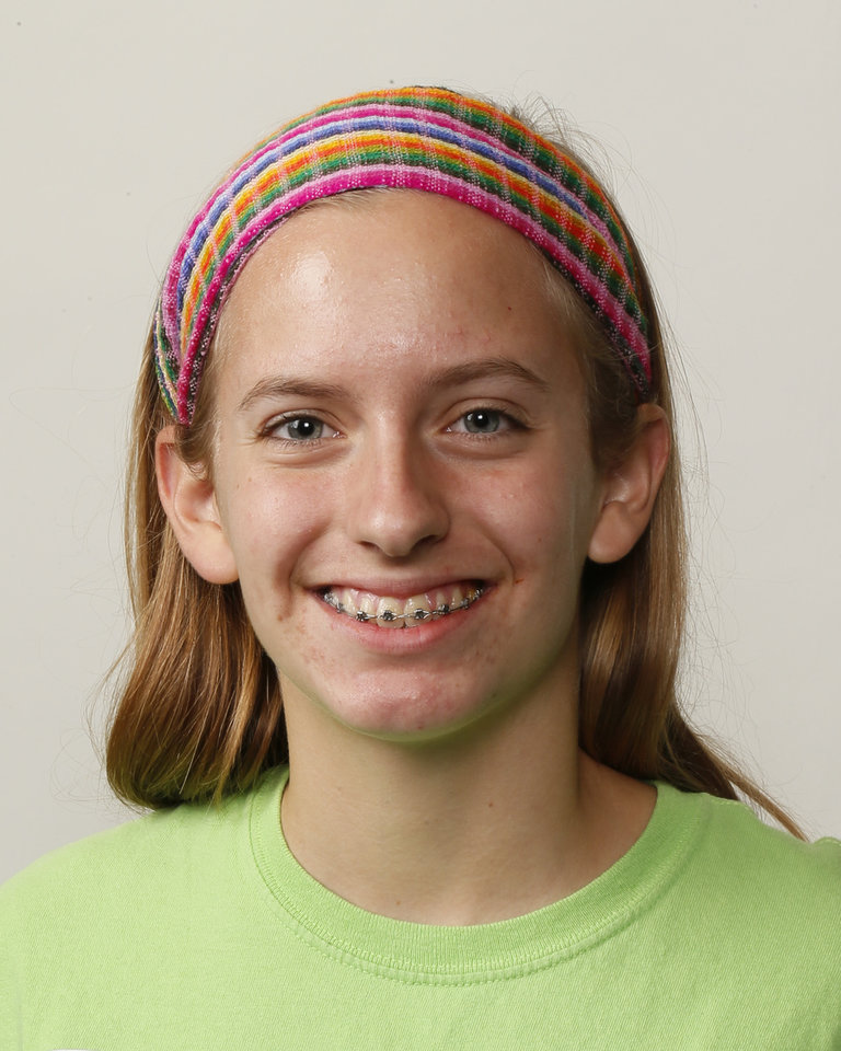 Photo - Jenny Mehner, Edmond North cross country runner, poses for a mug shot during The Oklahoman's Fall High School Sports Photo Day in Oklahoma City, Wednesday, Aug. 15, 2012. Photo by Nate Billings, The Oklahoman