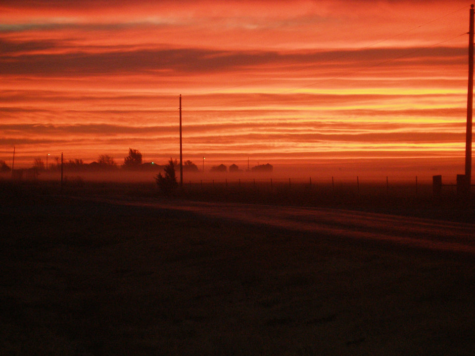 Taken Nov.14,2006 southwest of El Reno at about 6:45am<br/><b>Community Photo By:</b> Alecia Listen<br/><b>Submitted By:</b> Alecia, El Reno