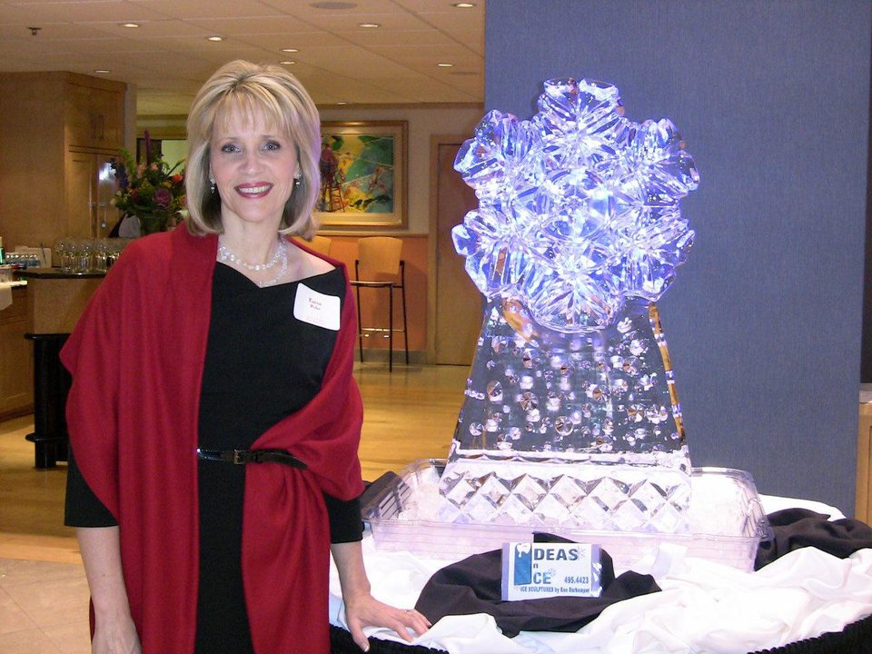 Karen Wicker, principal of Candor Public Relations, at the winter party she co-chaired for Oklahoma City�s downtown Rotary club. PHOTO PROVIDED