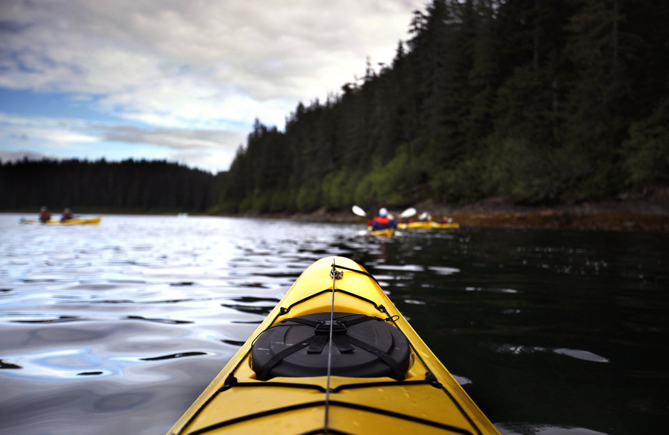Photo - A kayak is pictured at Williams Cove in Alaska, Sunday, June 3, 2012.  Photo by Sarah Phipps, The Oklahoman