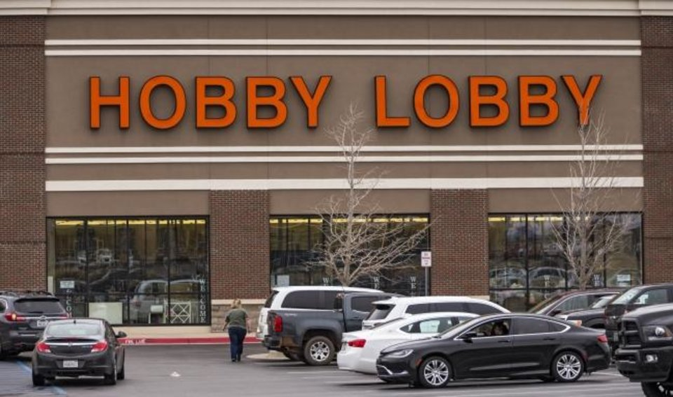 Photo -  Hobby Lobby i n Yukon had shoppers on Tuesday.  [Chris Landsberger/The Oklahoman]