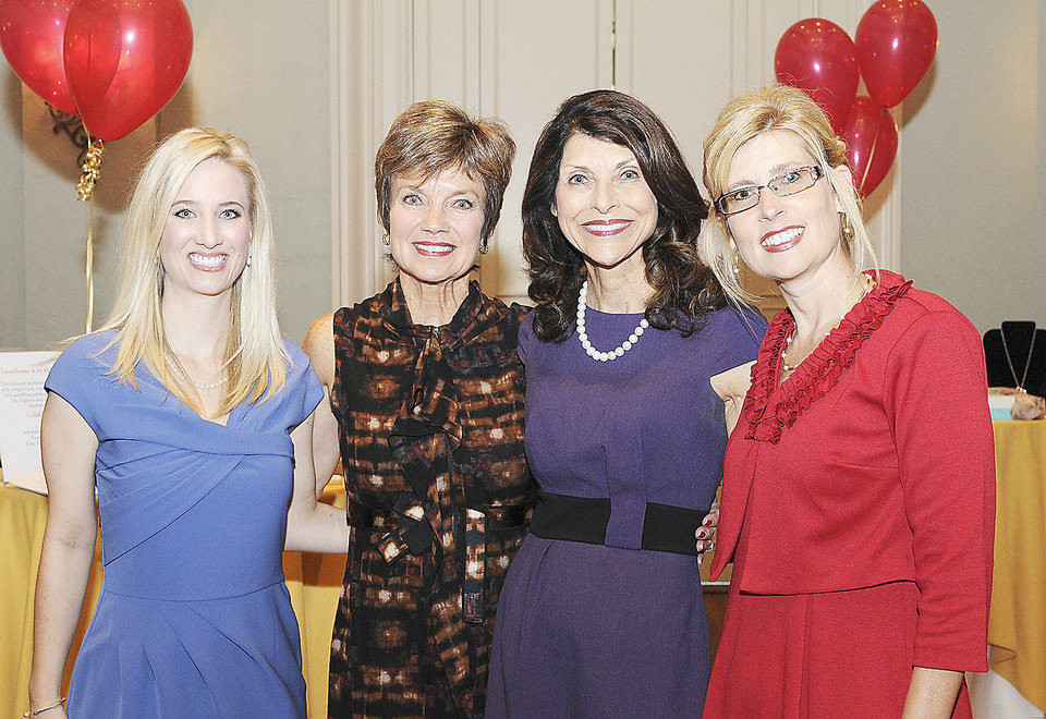 Photo - Above: Crystal Drwenski, Janie Axton, Pam Tebow and Dierdre McCool.  PHOTO BY DAVID FAYTINGER, FOR THE OKLAHOMAN