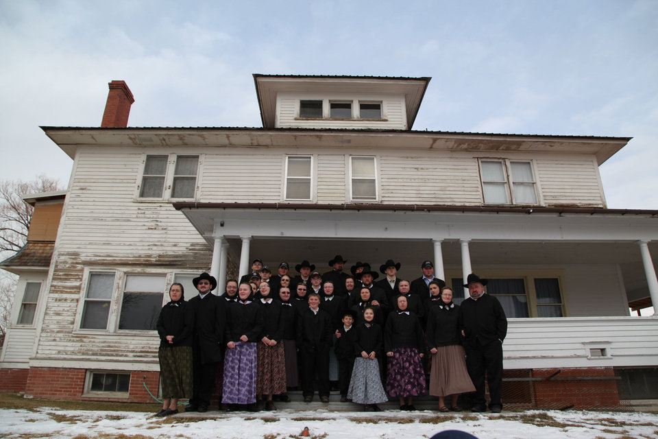 Photo -   This undated image released by National Geographic Channels shows a Hutterite family in Lewistown, Mont.